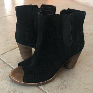Toms Ankle Chunky Bootie Heels